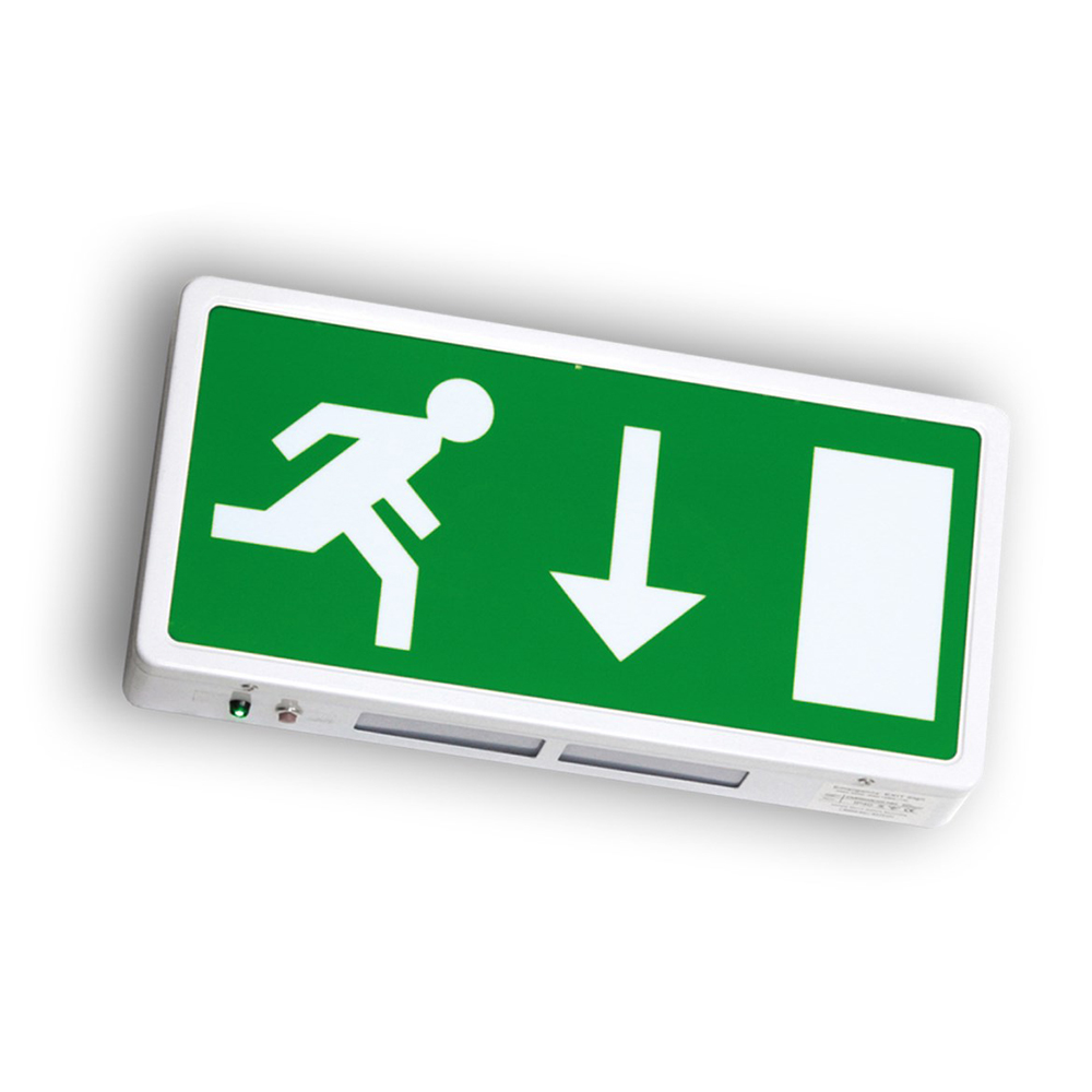 Wall Mounted Exit Lights : Slim Maintained Suspended Emergency Exit Sign - Modo Lights